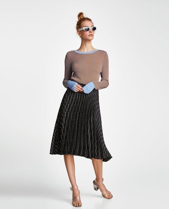 10822bbb0 FALDA PLISADA ESTAMPADO en 2019 | zara clothes | Faldas plisadas ...