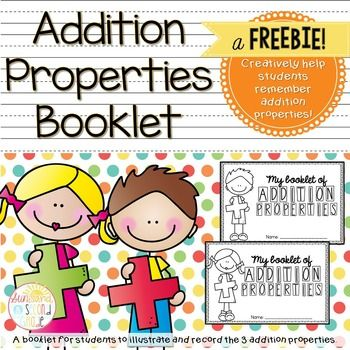 This mini booklet is a great resource to have on hand when teaching your kiddos about the three addition properties. Your students can explain each property, and show examples and non-examples of each as well. There are also blank pages for your students to illustrate each property using pictures (their favorite part!).This covers the Identity Property, Associative Property and Commutative Property.