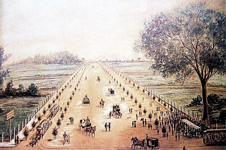 Inauguração da Avenida Paulista, 8 de dezembro de 1891. Aquarela sobre papel - Jules Martin. Museu Paulista/USP