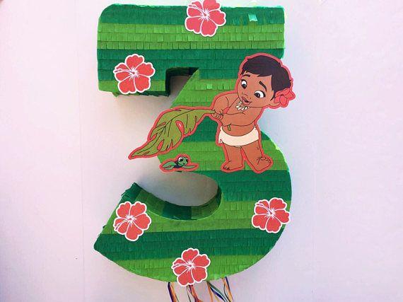 PIÑATA de MOANA princesa Moana partido Pull cadena Piñata