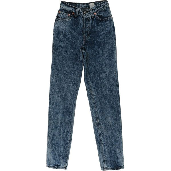 1980's Retro Pants: 80s -Levis 501- Womens blue and white with gold... (1.855 RUB) ❤ liked on Polyvore featuring pants, jeans, bottoms and denim
