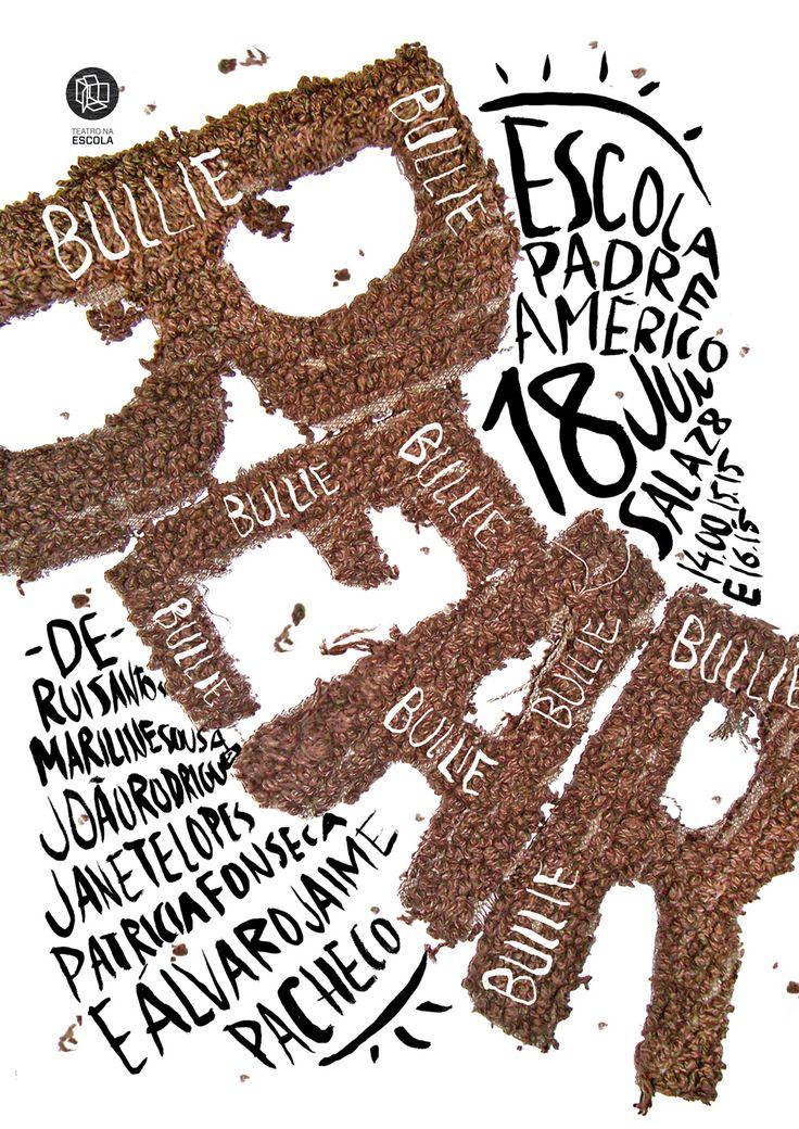 atelier d'alves - typo/graphic posters  Me resulta interesante como utiliza a la tipografía como imagen.