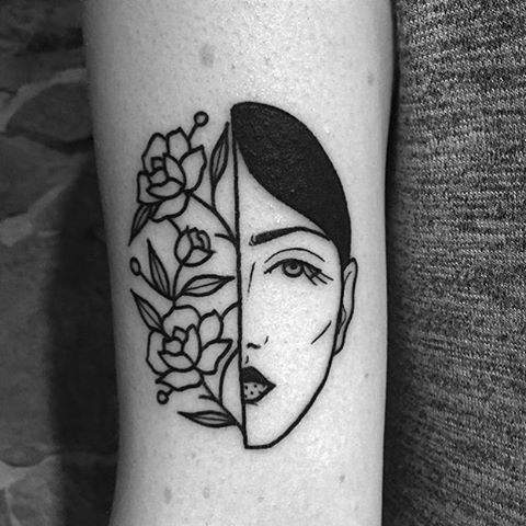 Best 25 black work tattoo ideas on pinterest for Tattoo line work