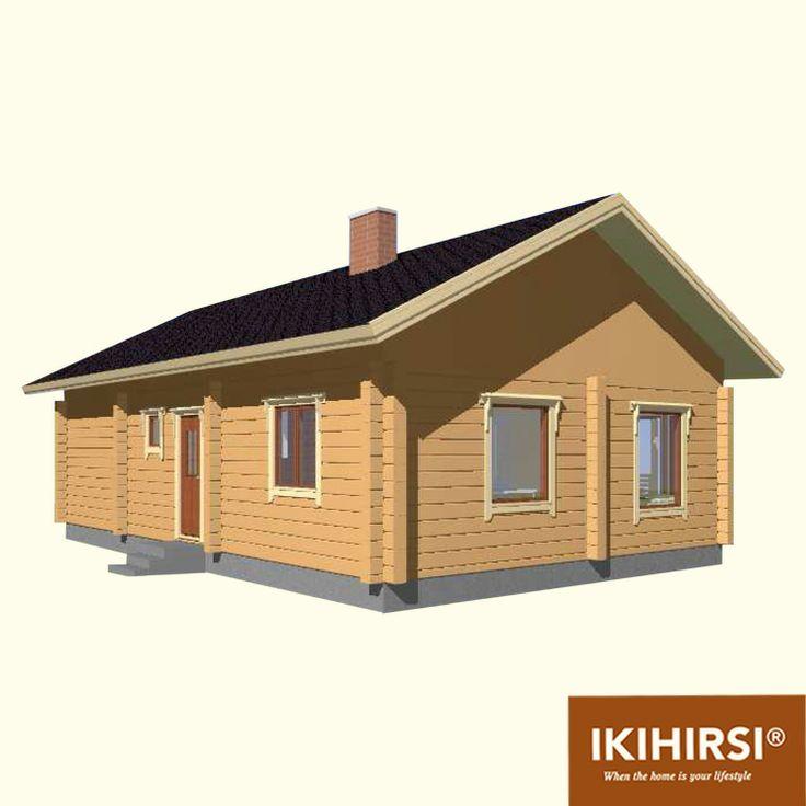 3D3. #деревянныйдом #Ikihirsi. Больше проектов одноэтажных деревянных домов на http://www.ikihirsirussia.ru/iki-houses/iki-proekty-1-etazh.html