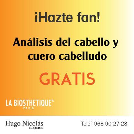 Hazte fan y aprovecha este verano el análisis y diagnóstico del cabello y del cuero cabelludo que ofrecemos, ¡sólo por seguirnos! ¡gratis! Llámanos para pedir cita ;) #peluquería #Murcia