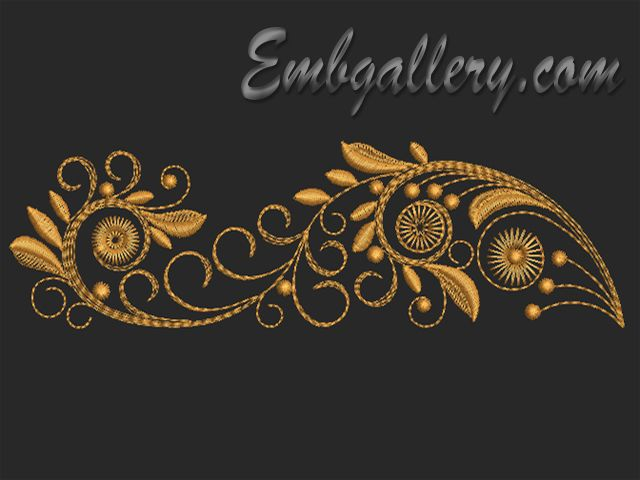 """Set of Twirls"" | Machine embroidery design"