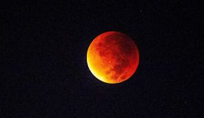 Night sky offers rare'blood moon' show with supermoon eclipse 9.28.15 (series of photos) Sunday was the last opportunity to see total lunar eclipse until 2018.   Supermoon blood moon (pictured) as seen from Petah Tivkah, Israel. September 27, 2015.