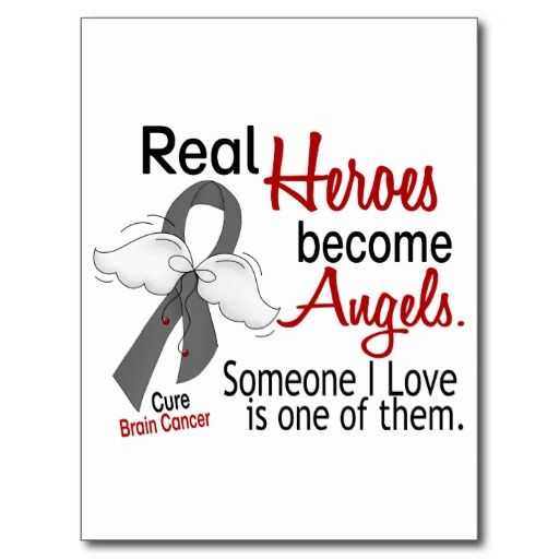brain cancer symbol | Heroes Become Angels Brain Cancer Postcard