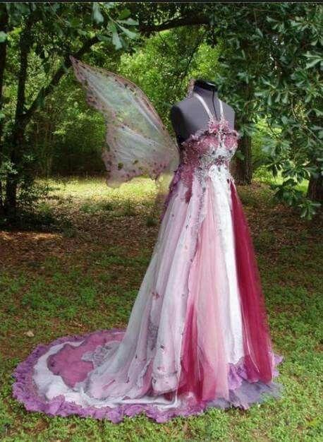 Fairy Wedding Dress via Pixie Wing