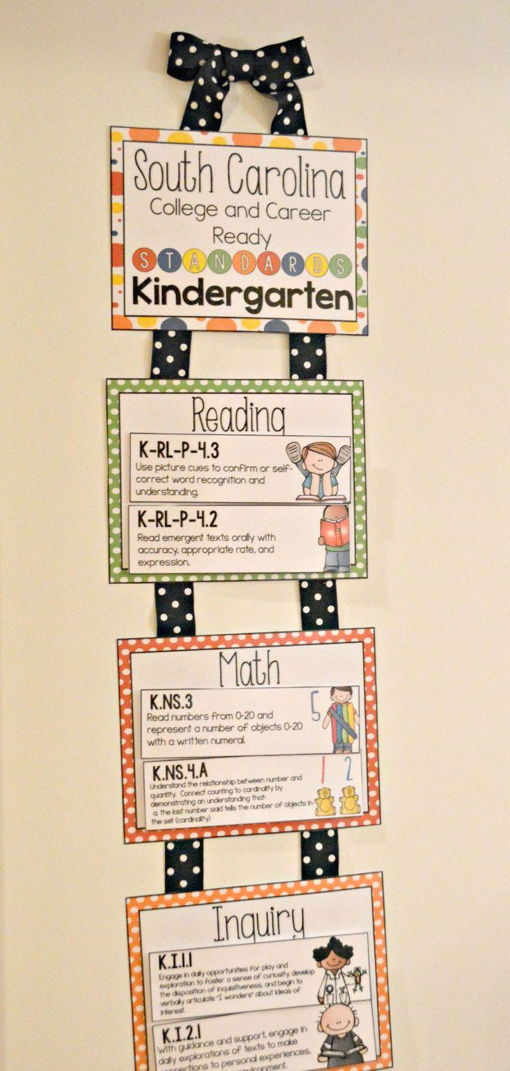 New Sc College And Career Ready Kindergarten Standard Posters Includes Reading Math Wr Kindergarten Kindergarten Classroom Management Teaching Kindergarten [ 1546 x 736 Pixel ]