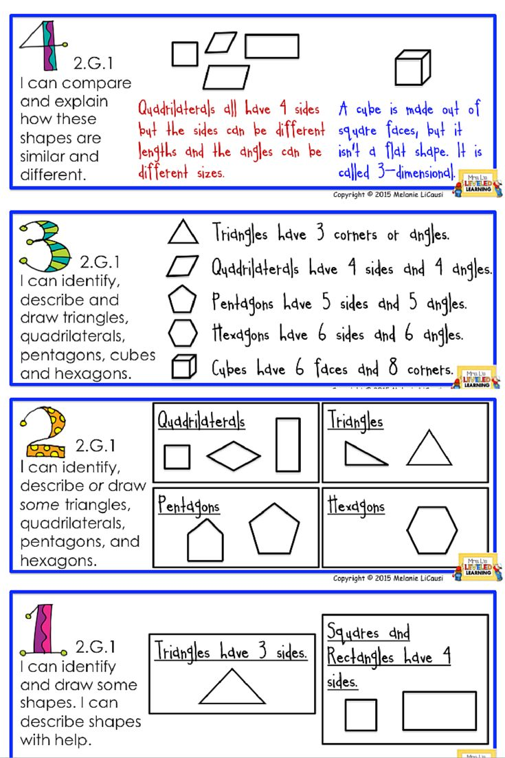 Worksheet First Grade Geometry 1000 images about first grade math on pinterest fact families find these 2nd geometry posters for free modeled after marzano scales common core