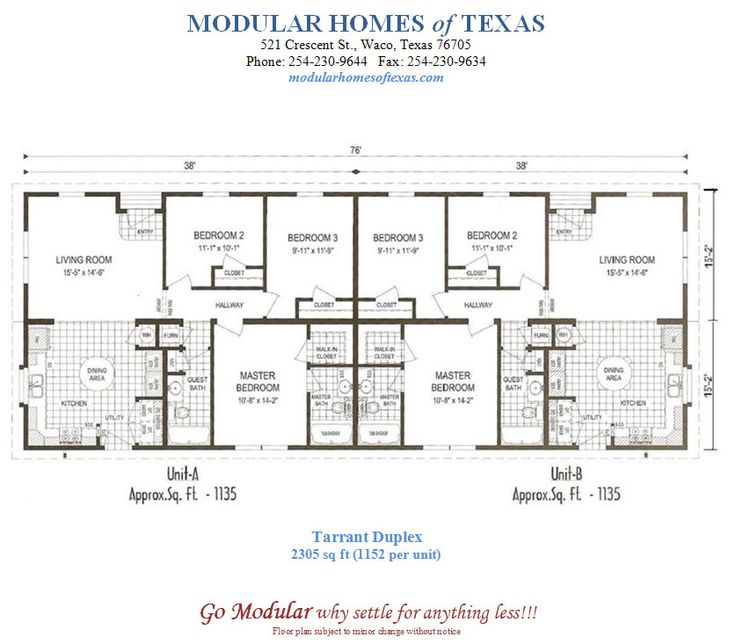 Duplex mobile home floor plans duplex home plans you can for Duplex modular homes