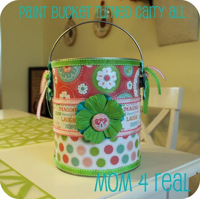 Carry All Paint Can These would be cute filled with candies, spa stuff. You can do smaller cans also..and use paper that meets your need.