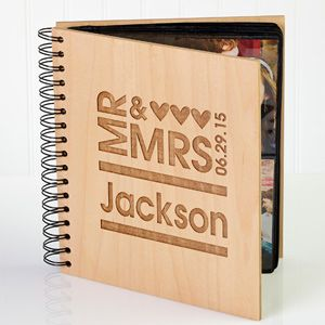 Create lasting Wedding memories with the Mr. & Mrs. Personalized Photo Album. Find the best personalized wedding gifts at PersonalizationMall.com