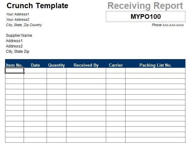 printable purchase order template excel