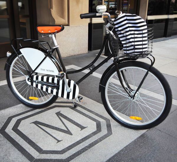 Stripe black & white bike by Republic Bikes available at the Mark
