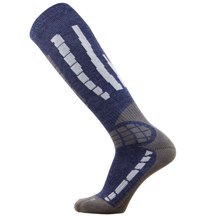 PureAthlete Warm Skiing Socks, Large / X-Large, Blue / Silver. Lightweight Material: Not too thick, the light material allows the ski socks to fit comfortably in ski boots without altering the fit. Soft and Comfortable Material: The ski socks feel great against the ski while skiing thanks to the highest quality yarn we use. They feature an ultra-comfortable sole and feel great in ski boots. Merino Wool to Prevent Odor: Anti-odor properties help to prevent bacteria from forming in the ski...