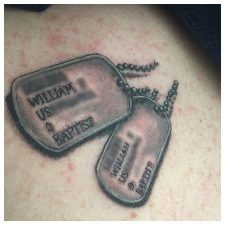 65 best tattoos images on pinterest family tree tattoos for Dog tag tattoo