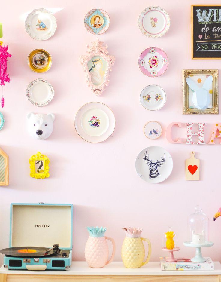 DIY - faça você mesmo - prato de parede - blog do math (insta @mathdoblog)