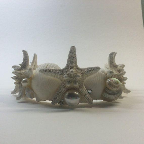White Starfish Mermaid Crown