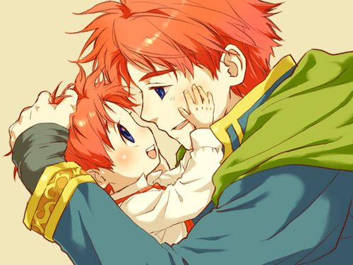 Eliwood and Roy fire emblem OMG NO! TOO CUTE! NOT FAIR!!!