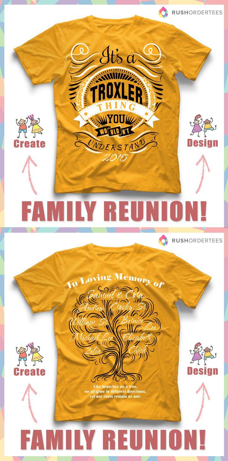 Design t shirt vistaprint - Family Reunion Custom T Shirt Design Idea Create An Awesome Custom Design For Your