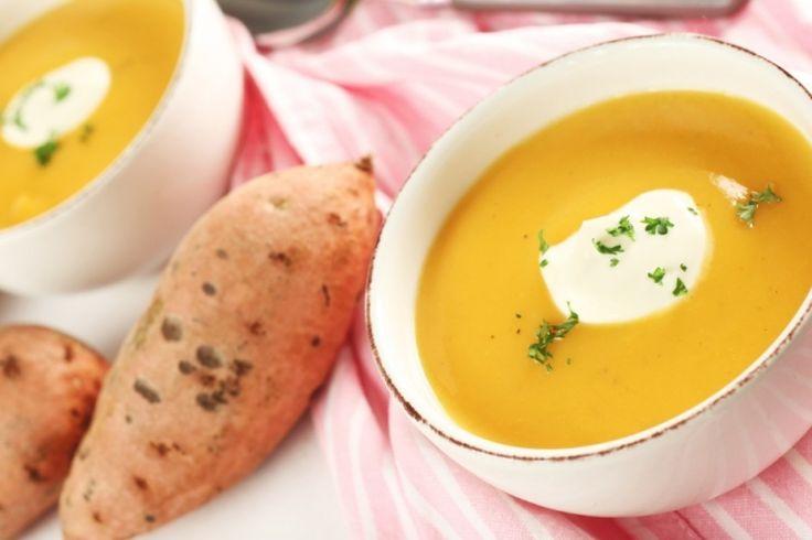 Une crème de patates douces et de poires...un délice pour vos papilles