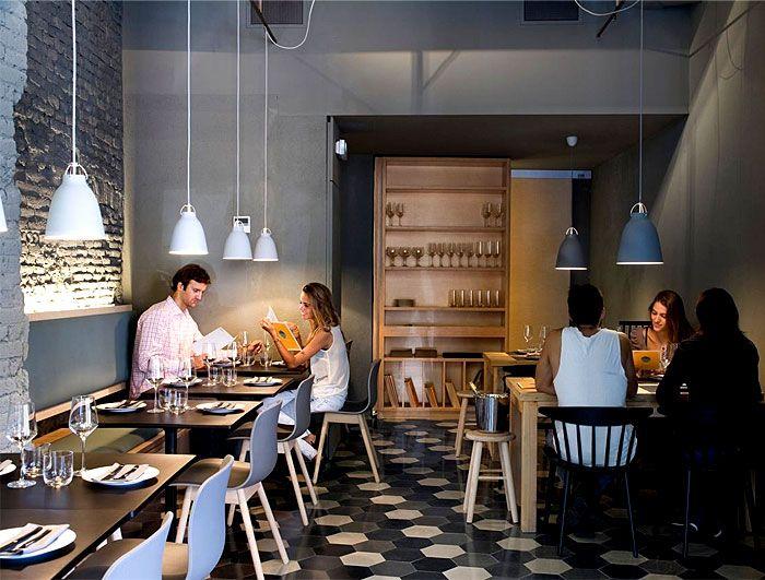 Chic Barcelona Restaurant by Adam Bresnick architects - InteriorZine