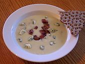 Cauliflower Soup with Danish Blue Cheese and Bacon