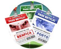 Assista ao vivo aos jogos do seu clube com o nosso Pass Betclic! #Benfica #Sporting #FCPorto