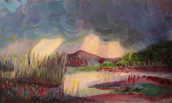 Landscape Classical Painting Acrylics Art by Sylchra, available on her Etsyshop ArtPaintingsAndDecor