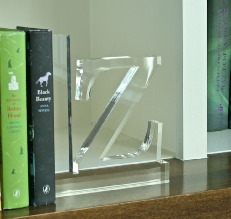 Loving These Fabulous Lucite Bookends!! Makes A Big Statement While Also  Being Functional!