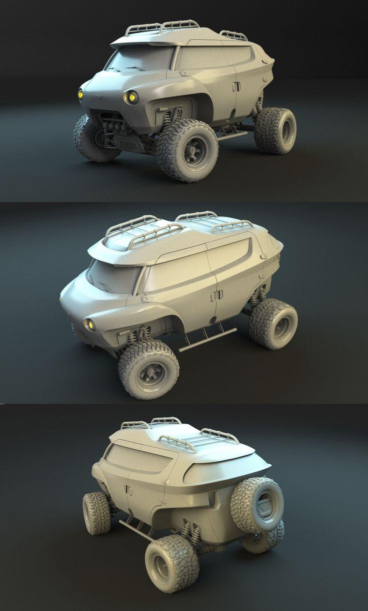 UAZ Buhanka concept (бешеный луноход) - Галерея 3ddd.ru