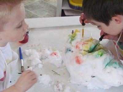 Coloring snow