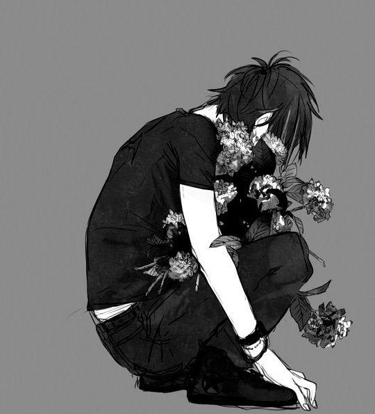 Dark anime boy