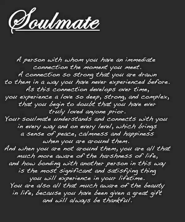 The real definition of what a soulmate is or should be!
