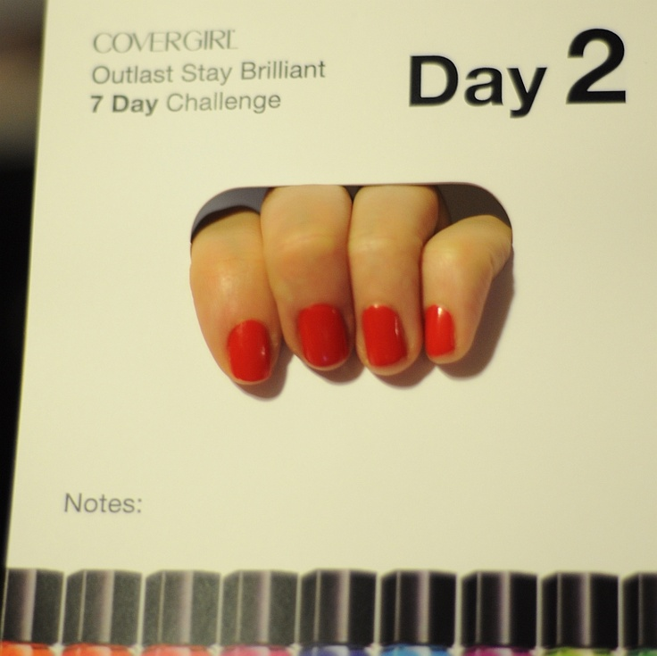 COVERGIRL Outlast Stay Brilliant Nail Gloss 7 Day Challenge - Day 2: 7 Day Challenge