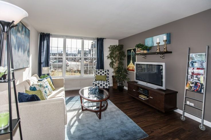 This living room is definitely worthy of a movie marathon. Come check out our luxurious floor plans, today! #ArriveNorthShore #Apartments #Highwood #Illinois