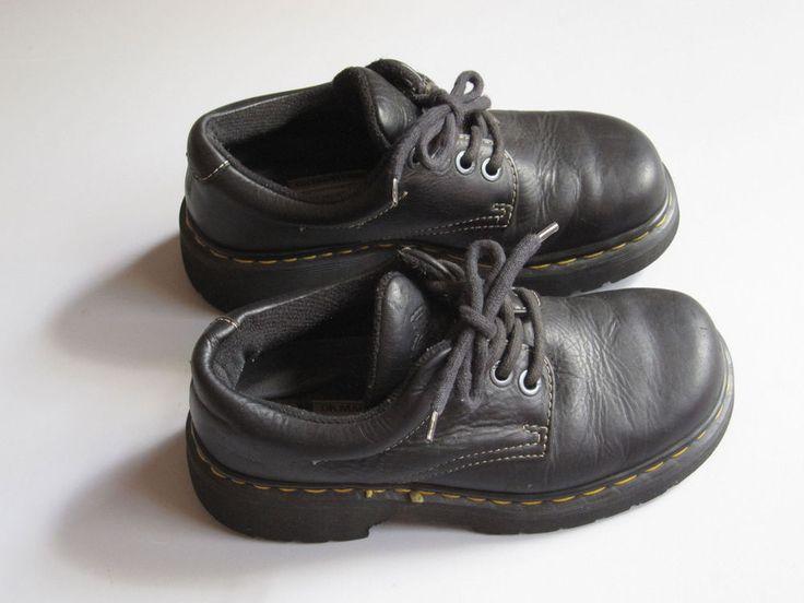 Dr DOC MARTENS Black Oxford Leather Chunky Shoes UK 5 - US 7 #docmarten #Oxfords #Casual