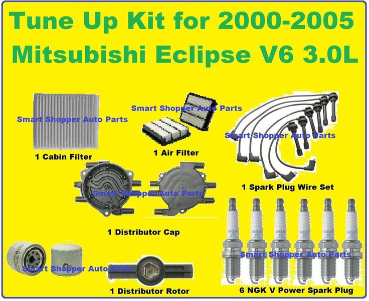 Tune Up Kit2000-2005 Mitsubishi Eclipse Spark Plug Wire Set Cabin Oil Air Filter #AftermarketProducts