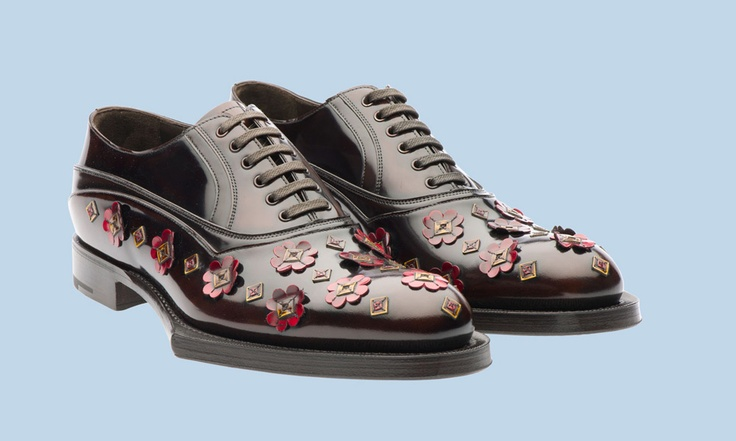 Prada Men's Lace-Up Shoes Fall/Winter 2012 – Rubber & Flowers