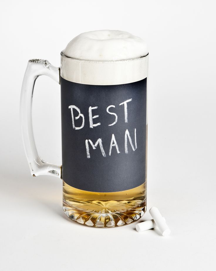 Win a set of The Man Registry's Chalkboard Beer Mugs for your groomsmen in the #PinAndWinWedding contest. Click for details OR read http://groomsadvice.com/2012/07/09/pin-and-win-your-wedding-pinterest-contest/