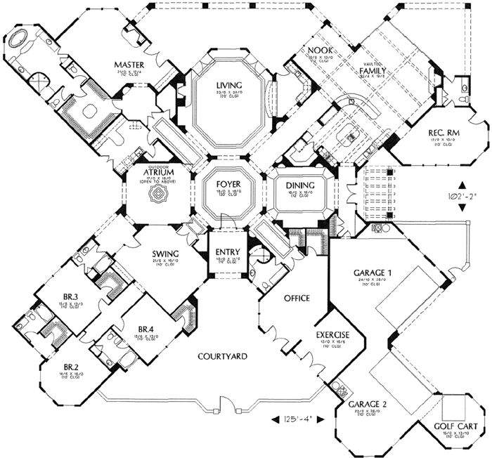 Ridiculously excessive - I love it.,would replace the octagonal living room with a pool