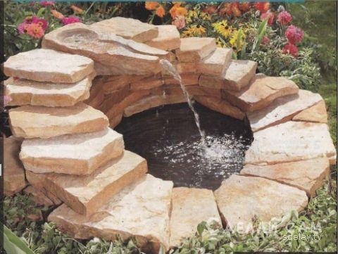 Декоративный пруд с ручейком и водопадом в саду своими руками.