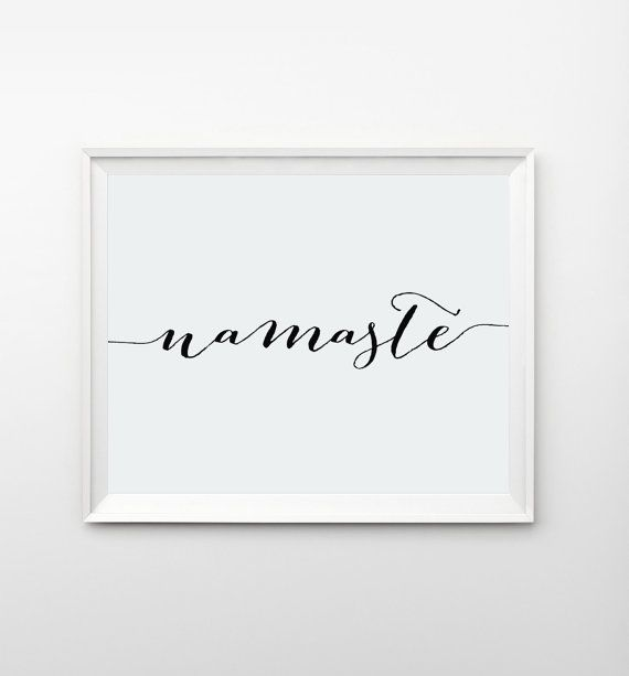 Wall Art Namaste Poster Prints Printable Quotes Indie by ArteeCor
