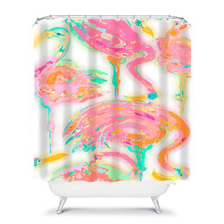 pink shower curtain flamingo shower, pink bathroom decor, art shower curtain, pink home decor, abstract shower curtain unique shower curtain by OzscapeHomeDecor on Etsy https://www.etsy.com/listing/253784744/pink-shower-curtain-flamingo-shower-pink