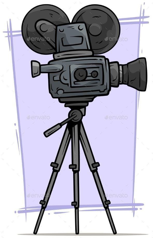 Vector Graphics Graphics Vector Filmcamera Film Camera In 2020 Camera Drawing Camera Cartoon Camera Wallpaper