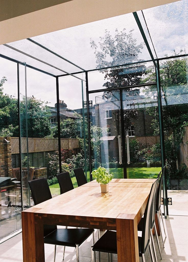 Truly a Room Outside made entirely of glass without any frame  Frameless Conservatories