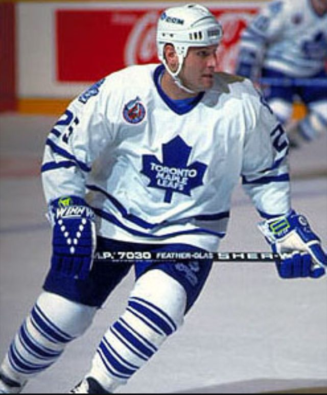 Peter Zezel of the Toronto Maple Leafs- part of the 92-93 roster. What a face off specialist.