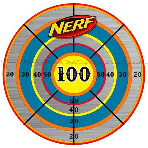 It's just a picture of Adaptable Nerf Target Printable